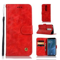 Sony Xperia 1 - Plånboksfodral Vintage - Röd