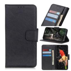 Sony Xperia L4 - Litchi Plånboksfodral - Svart