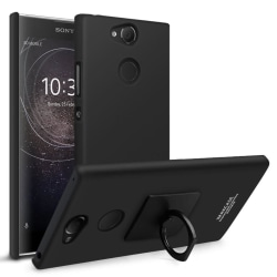 Sony Xperia XA2 - IMAK Ring Skal - Svart Black Svart