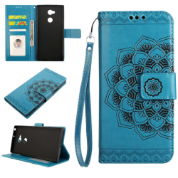 Sony Xperia XA2 Ultra - Plånboksfodral Flower - Blå