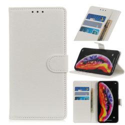 Xiaomi Mi 9 - Litchi Plånboksfodral - Vit