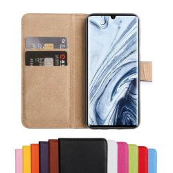 Xiaomi Mi Note 10/10 Pro - Fodral Äkta Läder - Välj Färg Svart