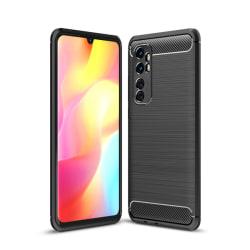 Xiaomi Mi Note 10 Lite - Borstad Stål Textur Skal - Svart