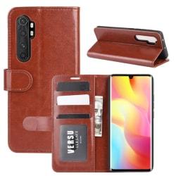 Xiaomi Mi Note 10 Lite - Crazy Horse Plånboksfodral - Brun