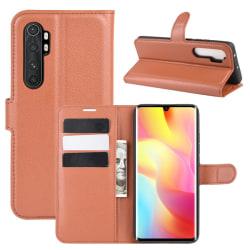 Xiaomi Mi Note 10 Lite - Litchi Plånboksfodral - Brun