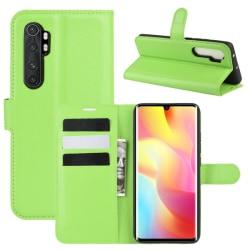Xiaomi Mi Note 10 Lite - Litchi Plånboksfodral - Grön