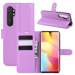 Xiaomi Mi Note 10 Lite - Litchi Plånboksfodral - Lila