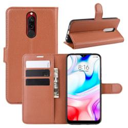 Xiaomi Redmi 8 - Litchi Plånboksfodral - Brun