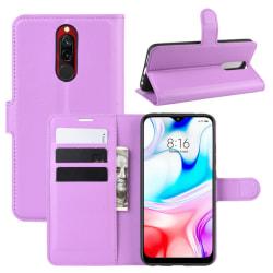 Xiaomi Redmi 8 - Litchi Plånboksfodral - Lila