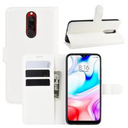 Xiaomi Redmi 8 - Litchi Plånboksfodral - Vit