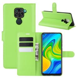 Xiaomi Redmi Note 9 - Litchi Plånboksfodral - Grön