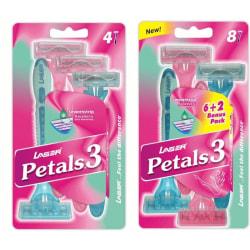 [12st] rakhyvlar för kvinnor, tjejer, Laser Petals3 rakhyvel