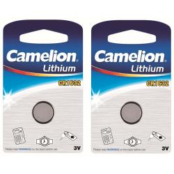 2-pack Camelion Batteri CR1632 Litium Lithium Silver