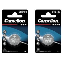 CR2430 Batteri  2-pack Litium Camelion Lithium Silver