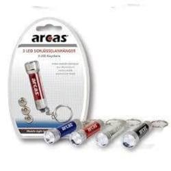 2-pack Nyckelring med blå LED ficklampa, lampa Blå