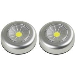 2st Batteridriven LED lampa downlight, spotlight + 6st batterier Grafitgrå