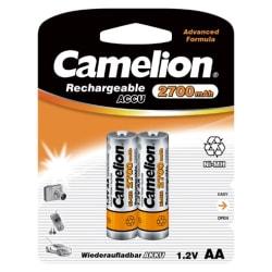2st laddningsbara AA batterier Camelion NiMH 2700mAh  laddnings Svart