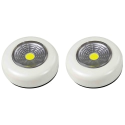 2st LED lampa, vit spotlight + 6st batterier Vit