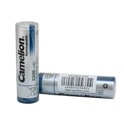 4-pack batteri, batterier Li-Ion 18650 Camelion 2600mAh Svart
