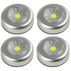 4-pack Batteridriven LED downlight, spotlight + 12st batterier GraphiteGrey