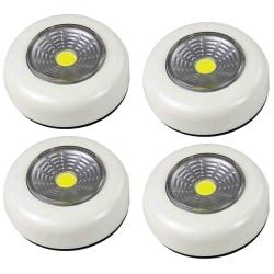 4-pack Batteridriven vit belysning LED downlight, spotlight  White