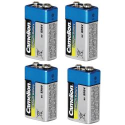 4st Camelion Batteri 9V, 9 Volt Lithium Litium för brandvarnare Silver