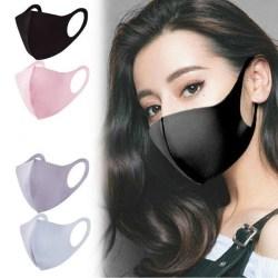 5 PACK tvättbar mask munskydd svart Svart