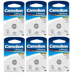 CR1220 Batteri  6-pack Litium Camelion  Lithium Silver