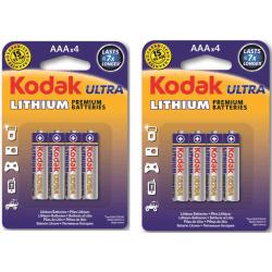 AAA Litium Batteri 8-pack Kodak  Lithium