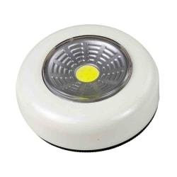 Batteridriven belysning LED lampa vit spotlight + 3st batterier Vit