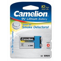 Camelion Batteri 9V, 9 Volt Lithium Litium för brandvarnare mm