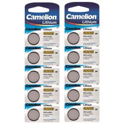 CR2025 10-pack Knappcell Camelion  , 3V Litium Batteri  Silver