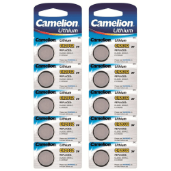 CR2032 10-pack Batteri Lithium  Litium  Camelion Silver