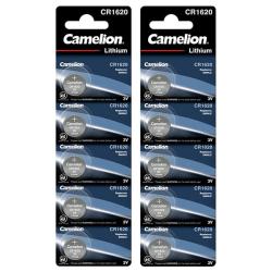 CR1620 Batterier 10-pack Litium Lithium Camelion  Silver