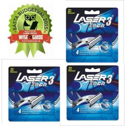 Rakhyvel +12 rakblad, Laser Tech3 trebladiga rakhyvlar för män
