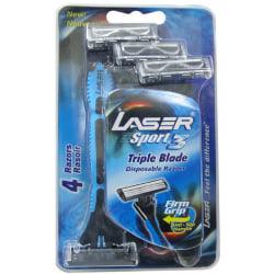 Rakhyvel 4-pack Laser Sport3, 3-bladiga rakhyvlar för män, killa