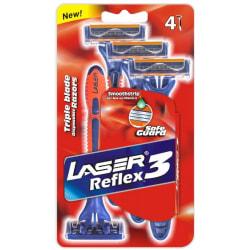 Rakhyvel 4-pack Laser Sport3 Reflex, Rakhyvlar för män, killar Blå