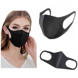 Tvättbart munskydd Black
