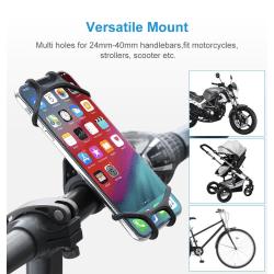 Mobiltelefonhållare cykel, sparkcykel m.m. Svart