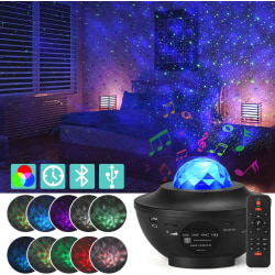 Stjärnprojektor LED, Galaxy  Rymdlampa med fjärrkontroll & Bluet Default Title