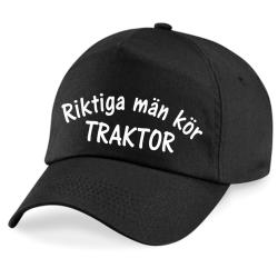 Keps Riktiga Män Kör Traktor