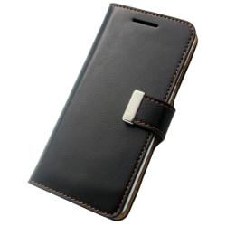 Fenice Plånboksfodral i äkta kalv skinn för iPhone 6/6S Svart