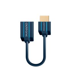 HDMI Flexadapter, 0.1 m - compact adapter for narrow TV wall