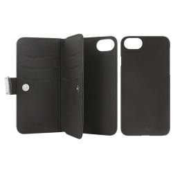 Plånboksväska med magnetskal 7-fack iPhone 6/6S/7/8