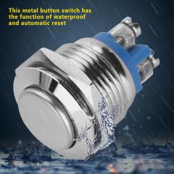 5 Pcs/set 16mm 3A 250V Metal Waterproof 2Pin Mini Push Butto