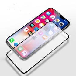 Härdat glas / heltäckande skärmskydd / skyddsglas iPhone 11 / XR