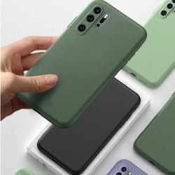 Huawei P30 pro silikon mikrofiber skal  svart