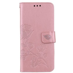 Samsung Galaxy S10 plus  Plånboksfodral med ros tryck