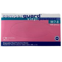 Semperguard handskar / vinylhandskar / engångshandskar medium