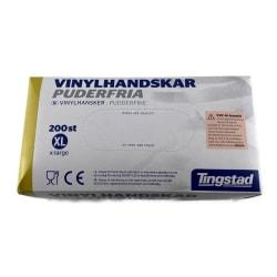 Vinylhandskar puderfria 200st extra large Tingstad